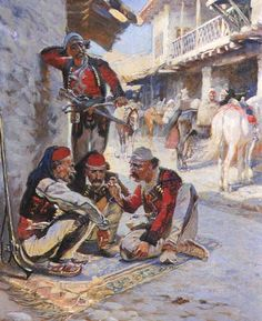 Dice Game, 1892 Fine Art Print by Waclaw Pawliszak Army History, Women In History, Ancient History, Arabic Characters, Albanian Culture, Medieval, Old Egypt, Call Art, Female Art