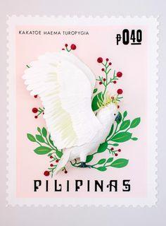 Paper sculpture Stamp of the Phillipines -Diana Beltran Herrera 2015