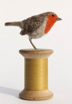 Dinny Pocock - My Work felted robin.