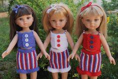 Tuto jupe et haut tricolore pour Paola Reina-Chéries-H4H
