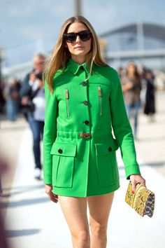 Chic street styles from Olivia Palermo and more at #PFW, here: