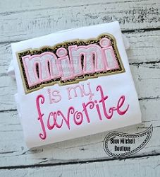 Mimi Double Applique - 3 Sizes! | Words and Phrases | Machine Embroidery Designs | SWAKembroidery.com Beau Mitchell Boutique