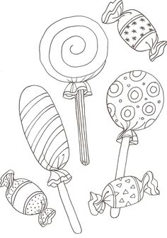 Lollipop Candy Coloring Pages Candy Coloring Pages, Coloring Pages For Grown Ups, Free Adult Coloring Pages, Cute Coloring Pages, Christmas Coloring Pages, Coloring Pages To Print, Free Printable Coloring Pages, Coloring For Kids, Free Coloring