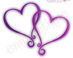 Curly Heart Double Embroidery Design