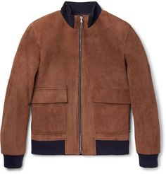 Solid Homme - Suede Bomber Jacket