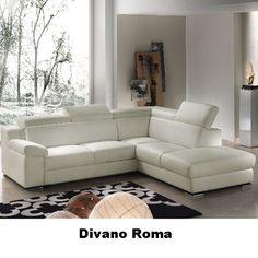 divano angolare componibile in pelle con poggiatesta zoe | divano ... - Pelle Dangolo Divano Minimalista