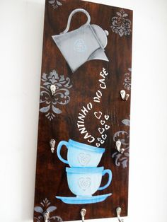 Completed with - healthy recipes Crafts For Girls, Hobbies And Crafts, Diy And Crafts, Diy Plaster, Clay Art Projects, Coffee Bar Home, Custom Stencils, Diy Wood Signs, Art N Craft