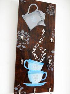Porta xícaras-Cantinho do Café XII