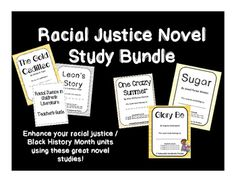 Looking for novel studies to include in Black History Month / Racial Justice units?  (Or ANY time during the year?) Check out this great group of book studies!