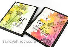 Artist Encouragement Cards – Sandy Allnock simple watercolor