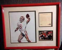 Steve Young S.F 49ER'S Quarterback Framed Kelly Russell Lithograph Print Original Art LIMITED EDITION 1994 by ALEXLITTLETHINGS on Etsy