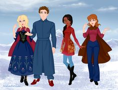 The 10th Doctor and Companions by VampKissLJ