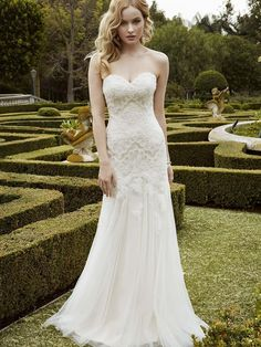 2016 Enzoani Strapless Sheath Wedding Dresses Lace Applique Sweetheart Bodice Lm Ruched Tulle Chapel Train Romantic Bridal Gowns Wedding Designer Dress Wedding Dresses And Gowns From Orient2012, $126.39| Dhgate.Com
