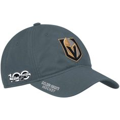 02cbeaad070 Vegas Golden Knights adidas Centennial Slouch Adjustable Hat - Gray
