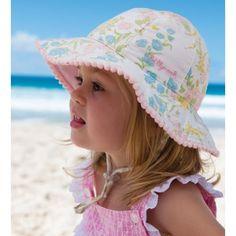 c437ed56 Millymook Baby Girls Bucket Hat - Indiana Lemon/White Baby Sun Hat, Baby  Girl