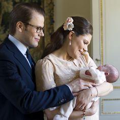 Princess Estelle of Sweden with her parents Crown Princess Victoria & Prince Daniel of Sweden.