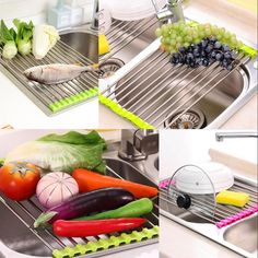 DISH DRYING RACK – KITCHEN DISH RACK - Very useful and efficient, with this Dish Drying Rack #kitchendecor #kitchens #dryingrack #rack #washrack Kitchen Dishes, Kitchen Tools, Kitchen Decor, Roll Up Design, Steel Racks, Stainless Steel Tubing, Dish Racks, Storage Rack, Divorce