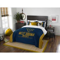 The Northwest Company West Virginia Mountaineers Multicolored /Queen 3-piece Comforter Set