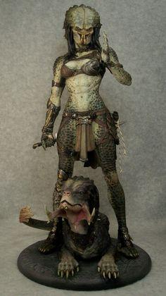 """Narins Predators - """"Assassin"""" sculpted by Narin, painted by Joe Dunaway"""