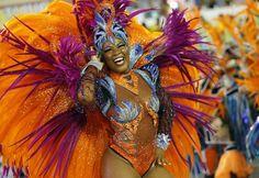 A reveller of the Salgueiro samba school participates on the first night of the annual carnival parade in Rio de Janeiro's Sambadrome, February REUTERS/Sergio Moraes Carnival Parade, Brazil Carnival, Carnival Outfits, Carnival Costumes, Carnival Dancers, Carnaval In Rio, Mardi Gras, Brazilian Samba, Carnival Decorations