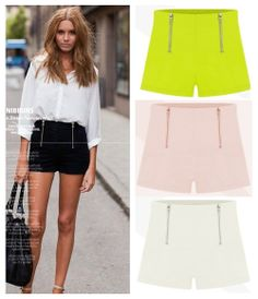 Big promotion 2014 New fashion shorts candy color double zipper shorts casual pants/shorts/trouser S M L Free shipping LQ6823