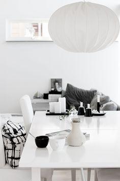 black & white | dining | table | monochrome