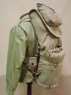 """Haversack """"M1928"""" Individual Equitment Carried"""