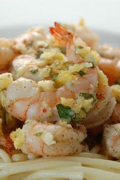 Healthy Shrimp Scampi with Garlic Lemon