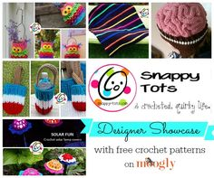 Snappy Tots Designer Showcase on Moogly - learn more about this great designer and get 5 free #crochet patterns! From Mooglyblog.com
