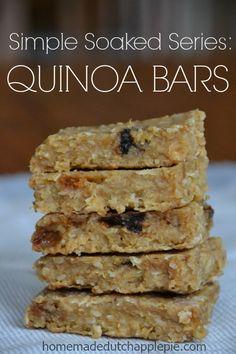 Simple Soaked Series: Quinoa Bars | Homemade Dutch Apple Pie