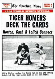 Image result for 1968 world series game 2 images