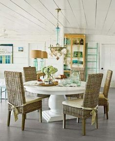 Rattan Chairs Wicker Dining Room Kitchen Table Area Small