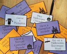 Grab this set of Printable pdf Halloween games, activities and a DIY countdown to do with kids! Fun Halloween Games, Halloween Words, Halloween Countdown, Family Halloween, Halloween Week, Halloween Printable, New Year's Eve Activities, Printable Activities For Kids, Family Activities
