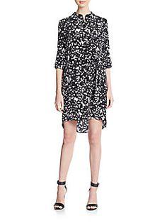 Diane von Furstenberg - Prita Silk Hi-Lo Shirtdress