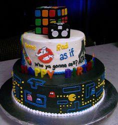 80's baby birthday cake