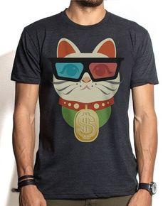 For all you cat lovers. A shirt you can wear. #ManekiNeko #3D