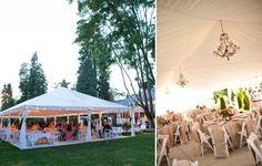 Our pretty reception tent!