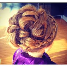 cute little girl I did an updo on today My Portfolio ❤ liked on Polyvore featuring hair