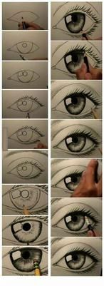 Secrets Of Drawing Realistic Pencil Portraits - how to draw eyes .in case you didnt know. who wouldnt know?o) Secrets Of Drawing Realistic Pencil Portraits - Discover The Secrets Of Drawing Realistic Pencil Portraits Drawing Techniques, Drawing Tips, Drawing Reference, Drawing Sketches, Drawing Ideas, Drawing Pictures, Drawing Art, Drawing An Eye, Sketches Of Eyes