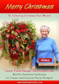 Merry Christmas How to Make a Christmas Door Wreath Video DVD >>> Click image to review more details.