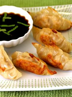 Healthy Chicken Pot Stickers with Minted Soy Sauce recipe! | babble