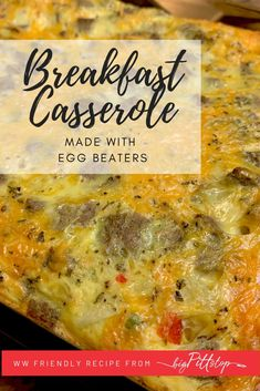 This easy, make-ahead Egg Beaters Breakfast Casserole is a perfect school morning breakfast or holiday breakfast buffet staple when your family is gathered. Or, make it on the weekend and cut into portions and have breakfast made for the whole week. #wwfriendly #lowpointbreakfast #eggbeaters Skinny Recipes, Ww Recipes, Fall Recipes, Holiday Recipes, Breakfast Buffet, Morning Breakfast, Breakfast Casserole, Mexican Food Restaurants, Mexican Food Recipes