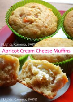 A light, airy vanilla filled packed full of chopped dries apricots with a surprise sweet cream cheese center! Click the photo for the . Cupcake Recipes, My Recipes, Baking Recipes, Cupcake Cakes, Dessert Recipes, Fruit Dessert, Desserts, Cupcakes, Best Muffin Recipe