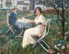 Francesco Vinea (1845-1902) Afternoon tea Carlos Vasquez y Obeda (1869-1944) A Day In The Park Oil on canvas 135.3 x 115.6 cm Private