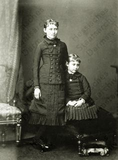 Princesses Irene of Hesse and Alix of Hesse (later Tsarina of Russia)