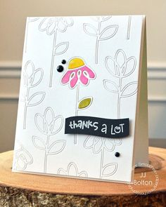 Card by PS DT JJ Bolton using PS Dainty Flowers, Best Buds