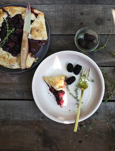 Blackberry Galette with Hazelnut Crust and Thyme