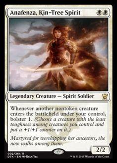 Anafenza, Kin-Tree Spirit mtg Magic the Gathering rare white soldier card Dragons of Tarkir