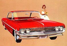 1961 Oldsmobile Olds 98 Holiday Coupe - Promotional Advertising Poster Classic Chevy Trucks, Classic Cars, Vintage Advertisements, Vintage Ads, Volkswagen Golf Mk1, Us Cars, Old Ads, Vintage Trucks, Advertising Poster