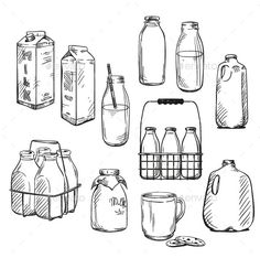 Find Milk Packaging Vector Illustration stock images in HD and millions of other royalty-free stock photos, illustrations and vectors in the Shutterstock collection. Milk Drawing, Food Drawing, Drawing Tips, Milk Photography, Milk Art, Bottle Drawing, Milk Magazine, Bottle Tattoo, Milk Packaging